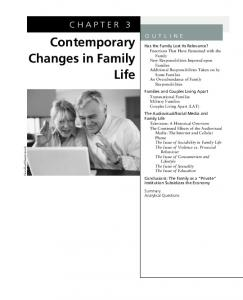 Contemporary Changes in Family Life