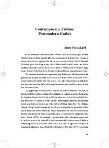 Contemporary Fiction: Postmodern Gothic Mario NAGATANI