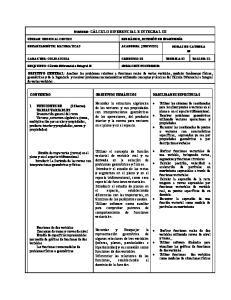 CONTENIDO OBJETIVOS TEMÁTICOS HABILIDADES ESPECIFICAS