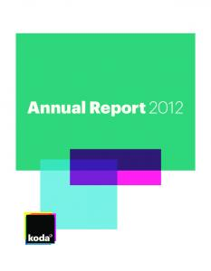 Content. Artists on Koda Customers about music Financial Review Annual Report 2012 Content 2