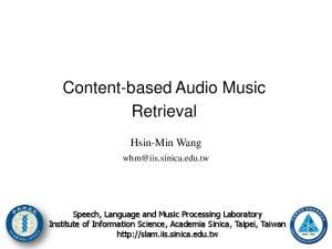 Content-based Audio Music Retrieval
