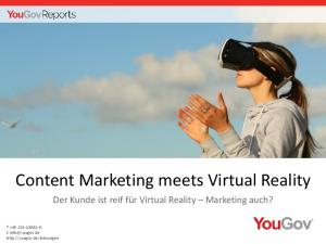 Content Marketing meets Virtual Reality