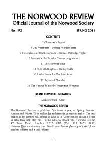 CONTENTS. 2 Chairman s Report. 4 Guy Verstraete Unsung Wartime Hero. 7 Personalities of South Norwood Samuel Coleridge Taylor