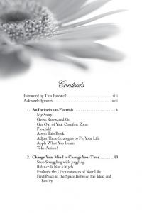 Contents. Foreword by Tina Farewell... xiii Acknowledgments...xvii