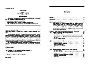Contents. Internet-shop UDK 515.1, PREFACE Introduction... 14