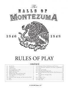 Contents. The Halls of Montezuma GMT Games, LLC GMT Games, LLC