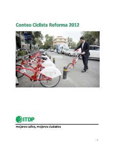 Conteo Ciclista Reforma 2012