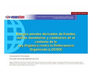 contexto de la contra la Delincuencia Organizada (LOCDO)