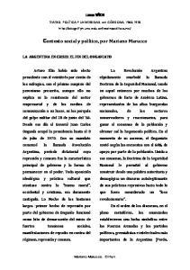 Contexto social y político, por Mariano Marucco
