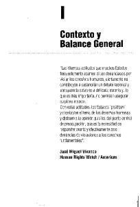 Contexto y Balance General