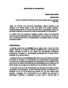 CONTEXTOS DE APRENDIZAJE