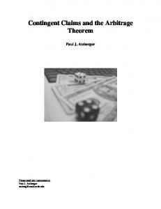 Contingent Claims and the Arbitrage Theorem