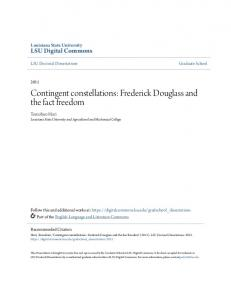 Contingent constellations: Frederick Douglass and the fact freedom