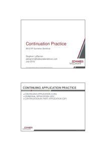 Continuation Practice