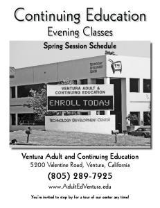 Continuing Education Evening Classes