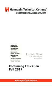 Continuing Education Fall 2017
