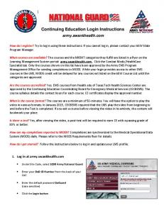 Continuing Education Login Instructions
