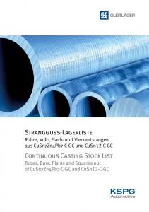 Continuous Casting Stock List