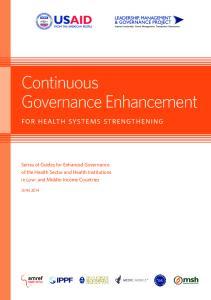 Continuous Governance Enhancement