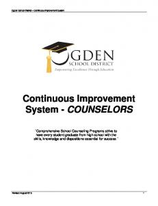 Continuous Improvement System - COUNSELORS