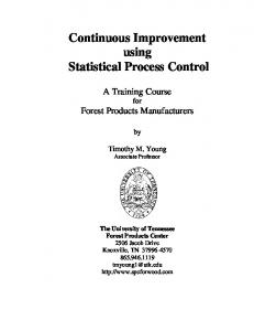 Continuous Improvement using Statistical Process Control
