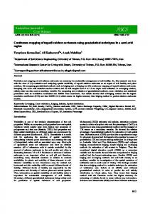 Continuous mapping of topsoil calcium carbonate using geostatistical techniques in a semi-arid region