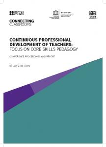CONTINUOUS PROFESSIONAL DEVELOPMENT OF TEACHERS: FOCUS ON CORE SKILLS PEDAGOGY