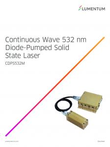 Continuous Wave 532 nm Diode-Pumped Solid State Laser CDPS532M