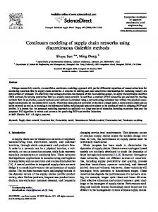 Continuum modeling of supply chain networks using discontinuous Galerkin methods
