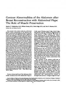 Contour Abnormalities of the Abdomen after Breast Reconstruction with Abdominal Flaps: The Role of Muscle Preservation