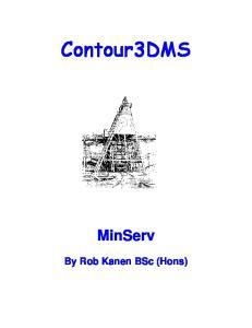 Contour3DMS. MinServ. By Rob Kanen BSc (Hons)