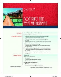 Contract and Asset Management