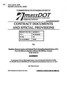 CONTRACT DOCUMENTS AND SPECIAL PROVISIONS