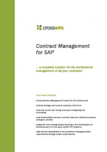 Contract Management for SAP