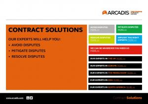 CONTRACT SOLUTIONS OUR EXPERTS WILL HELP YOU: AVOID DISPUTES MITIGATE DISPUTES RESOLVE DISPUTES. Contract Solutions MITIGATE DISPUTES AVOID DISPUTES