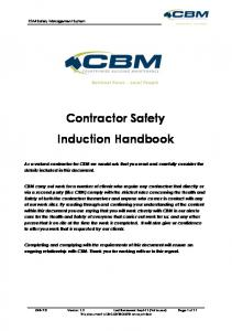 Contractor Safety Induction Handbook