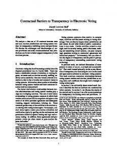 Contractual Barriers to Transparency in Electronic Voting