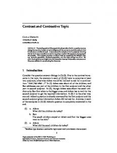 Contrast and Contrastive Topic