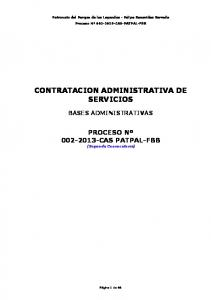 CONTRATACION ADMINISTRATIVA DE SERVICIOS
