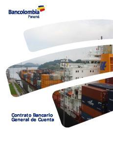 Contrato Bancario General de Cuenta