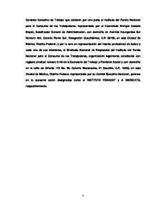 Contrato Colectivo de Trabajo que celebran por una parte el Instituto del Fondo Nacional