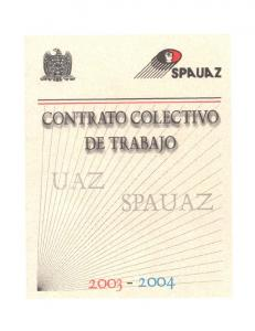 Contrato Colectivo de Trabajo U.A.Z.- S.P.A.U.A.Z
