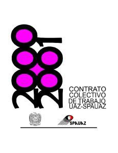 Contrato Colectivo de Trabajo U.A.Z. S.P.A.U.A.Z