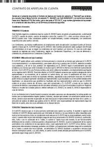 CONTRATO DE APERTURA DE CUENTA
