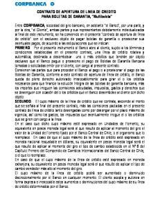 CONTRATO DE APERTURA DE LINEA DE CREDITO PARA BOLETAS DE GARANTIA, Multiboleta