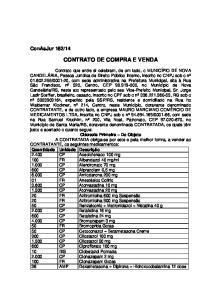 CONTRATO DE COMPRA E VENDA