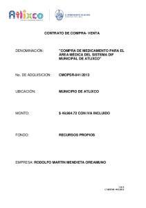 CONTRATO DE COMPRA- VENTA $ 49, CON IVA INCLUIDO