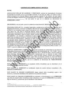 CONTRATO DE COMPRA-VENTA E HIPOTECA