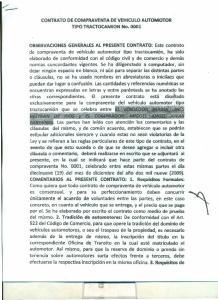 CONTRATO DE COMPRAVENTA DE VEHICULO AUTOMOTOR TIPO TRACTOCAMION No. 0001