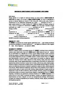CONTRATO DE CONSTITUCION DE HIPOTECA (GARANTE HIPOTECARIO)